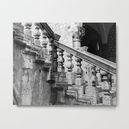 Sponza Palace Stairs Metal Print