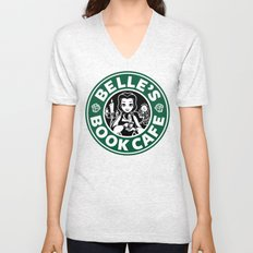 Belle's Book Cafe Unisex V-Neck