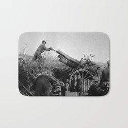 American Artillery Troops In Action - France WW1 Bath Mat