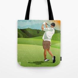 Mountain Golfer Tote Bag