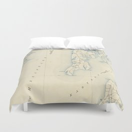 Vintage Annapolis MD & Chesapeake Bay Map (1902) Duvet Cover