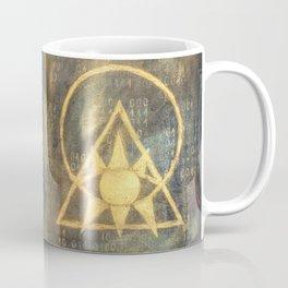 Follow The Light - Illuminati and Binary Coffee Mug