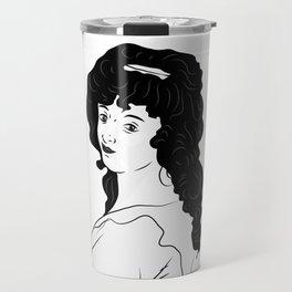 Dora Jordan Illustrated Portrait Travel Mug