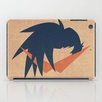 gurren lagann iPad Cases featuring Minimalist Kamina by 5eth