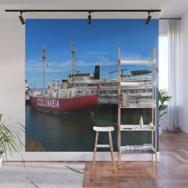 Riverboat Legacy and Fireship Columbia on Columbia River Wall Mural