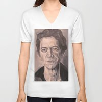lou reed V-neck T-shirts featuring Lou by Charles Ellison