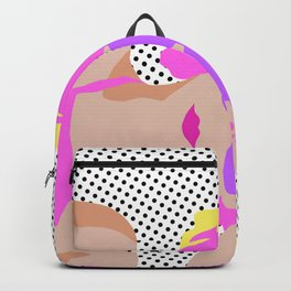 Summer Girl with Sunglasses (flat graphic) Backpack