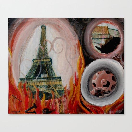 Eiffel T(p)ower Canvas Print