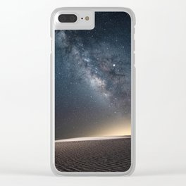 The Milky Way and White Sand Dunes of New Mexico Clear iPhone Case
