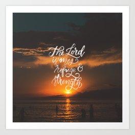 Refuge and Strength Art Print