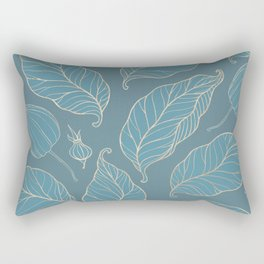 Blueprint Color of the year - Leaves Rectangular Pillow