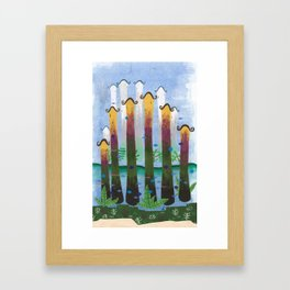 underwater place #1 Framed Art Print