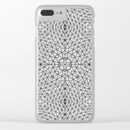 Black and White Wire Frame Clear iPhone Case