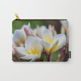 White Spring Flower Carry-All Pouch