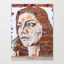 Painted women's face  Canvas Print