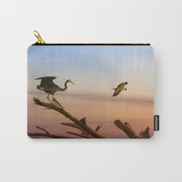 Heron And Osprey At Sunset Carry-All Pouch