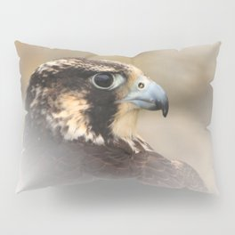 Vignetted Profile of a Peregrine Falcon Pillow Sham