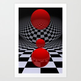 red-white-black -2- Art Print