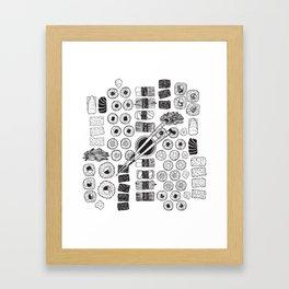 The Sushi Platter Framed Art Print