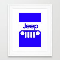 jeep Framed Art Prints featuring Jeep by rita rose