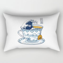 The Great Kanagawa Tea Rectangular Pillow