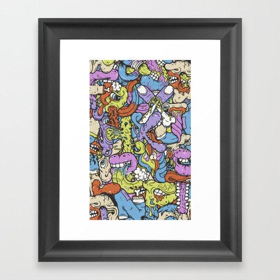 Alphabetcha Collage Framed Art Print