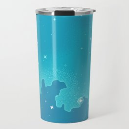 Aqua Pixel Skyscape Travel Mug