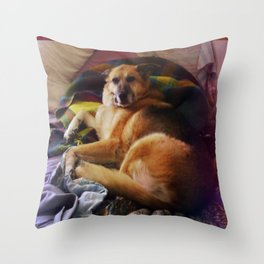 What a dog Throw Pillow