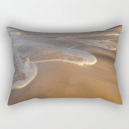 Gentle Waves on Beach Rectangular Pillow