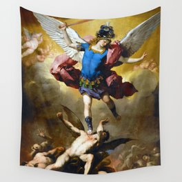 The Fall of the Rebel Angels by Luca Giordano (1666) Wall Tapestry