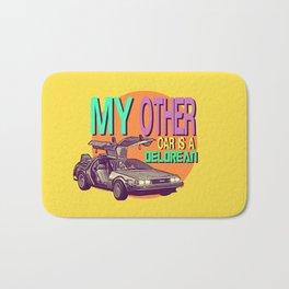My Other Car Is A Delorean     Time Machine Bath Mat