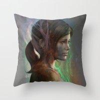 artgerm Throw Pillows featuring The last hope by Artgerm™