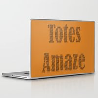 totes Laptop & iPad Skins featuring Totes Amaze orange by PintoQuiff