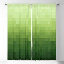 Gradient Pixel Green Blackout Curtain