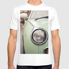 The green car MEDIUM Mens Fitted Tee White
