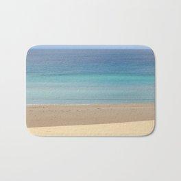 landscape of ocean and sand beach Bath Mat
