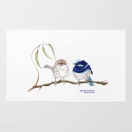 Fairy Blue Wrens Rug