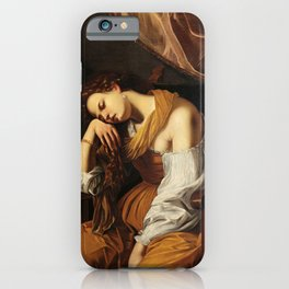 Mary Magdalene as Melancholy, 1622-1625 by Artemisia Gentileschi iPhone Case