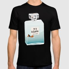 No.5 Aloha, hawaii art, aloha art, summer art, perfume art Black MEDIUM Mens Fitted Tee
