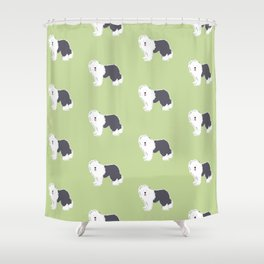 Old English Sheepdog Shower Curtain