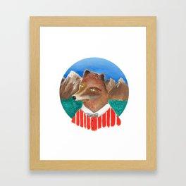 Fox of Lion Framed Art Print