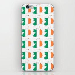 flag of ireland 3-ireland,eire,airlann,irish,gaelic,eriu,celtic,dublin,belfast,joyce,beckett iPhone Skin