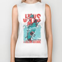 jaws Biker Tanks featuring Jaws by Tshirt-Factory