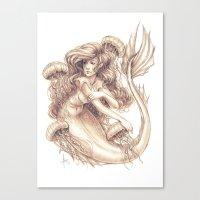 jellyfish Canvas Prints featuring Jellyfish by Bea González