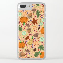 Thanksgiving #3 Clear iPhone Case