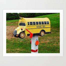 School Bus Mailbox Art Print