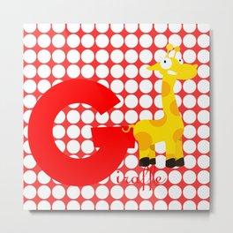 g for giraffe Metal Print