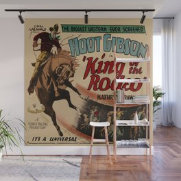 Vintage Western Movie Poster Rodeo King Wall Mural