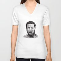 tom hiddleston V-neck T-shirts featuring Tom by Rik Reimert