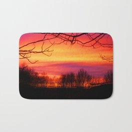 Sunset glow Bath Mat
